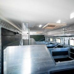 Koniowóz MAN TGL boksy gotowe do transportu