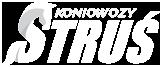 Koniowozy Struś logo białe